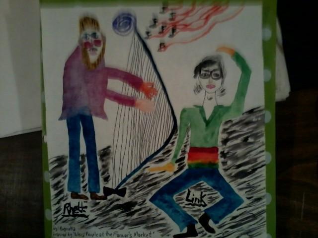 Harp Playing w Rhett & Link